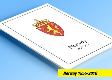 COLOR PRINTED NORWAY 1855-2010 STAMP ALBUM  PAGES (183 illustrated pages)