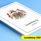 COLOR PRINTED LUXEMBOURG 1852-2010 STAMP ALBUM PAGES (195 illustrated pages)