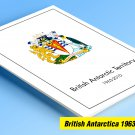 BRITISH ANTARCTIC TERRITORY 1963-2010 COLOR PRINTED STAMP ALBUM PAGES  (62 illustrated pages)