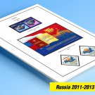 COLOR PRINTED RUSSIA 2011-2013 STAMP ALBUM PAGES (61 illustrated pages)
