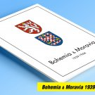 BOHEMIA & MORAVIA 1939-1944 COLOR PRINTED STAMP ALBUM PAGES  (12 illustrated pages)