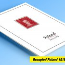 OCCUPIED POLAND 1915-1944 COLOR PRINTED STAMP ALBUM PAGES  (15 illustrated pages)
