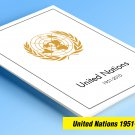 COLOR PRINTED UNITED NATIONS 1951-2010 STAMP ALBUM PAGES (373 illustrated pages)
