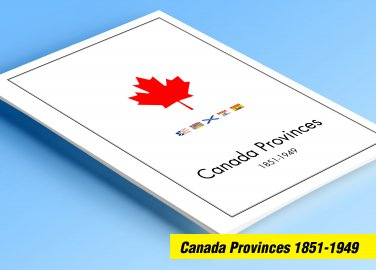 COLOR PRINTED CANADA PROVINCES 1851-1949 STAMP ALBUM PAGES (25 illustrated pages)