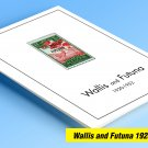 COLOR PRINTED WALLIS AND FUTUNA 1920-1952 STAMP ALBUM PAGES (18 illustrated pages)