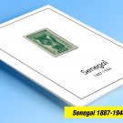 COLOR PRINTED SENEGAL 1887-1944 STAMP ALBUM PAGES (18 illustrated pages)