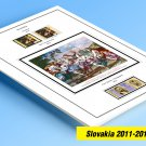COLOR PRINTED SLOVAKIA 2011-2014 STAMP ALBUM PAGES (17 illustrated pages)