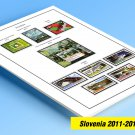 COLOR PRINTED SLOVENIA 2011-2014 STAMP ALBUM PAGES (36 illustrated pages)