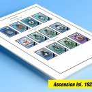 COLOR PRINTED ASCENSION ISLAND 1922-1999 STAMP ALBUM PAGES (104 illustrated pages)