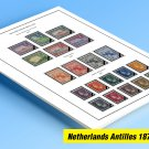 COLOR PRINTED NETHERLANDS ANTILLES 1973-1999 STAMP ALBUM PAGES (133 illustrated pages)