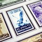 COLOR PRINTED ITALIAN EAST AFRICA 1938-1942 STAMP ALBUM PAGES (7 illustrated pages)