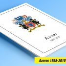 COLOR PRINTED AZORES 1858-2010 STAMP ALBUM PAGES (94 illustrated pages)