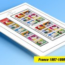 COLOR PRINTED FRANCE 1997-1999 STAMP ALBUM PAGES (30 illustrated pages)