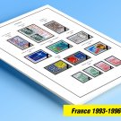 COLOR PRINTED FRANCE 1993-1996 STAMP ALBUM PAGES (23 illustrated pages)