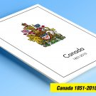 COLOR PRINTED CANADA 1851-2010 STAMP ALBUM PAGES (373 illustrated pages)