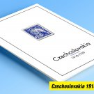 COLOR PRINTED CZECHOSLOVAKIA [CLASS.] 1918-1939 STAMP ALBUM PAGES (41 illustrated pages)