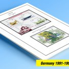 COLOR PRINTED GERMANY 1991-1999 STAMP ALBUM PAGES (50 illustrated pages)