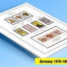 COLOR PRINTED GERMANY 1976-1990 STAMP ALBUM PAGES (38 illustrated pages)