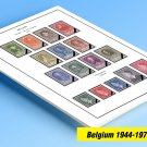 COLOR PRINTED BELGIUM 1944-1975 STAMP ALBUM PAGES (46 illustrated pages)