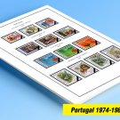 COLOR PRINTED PORTUGAL 1974-1980 STAMP ALBUM PAGES (40 illustrated pages)