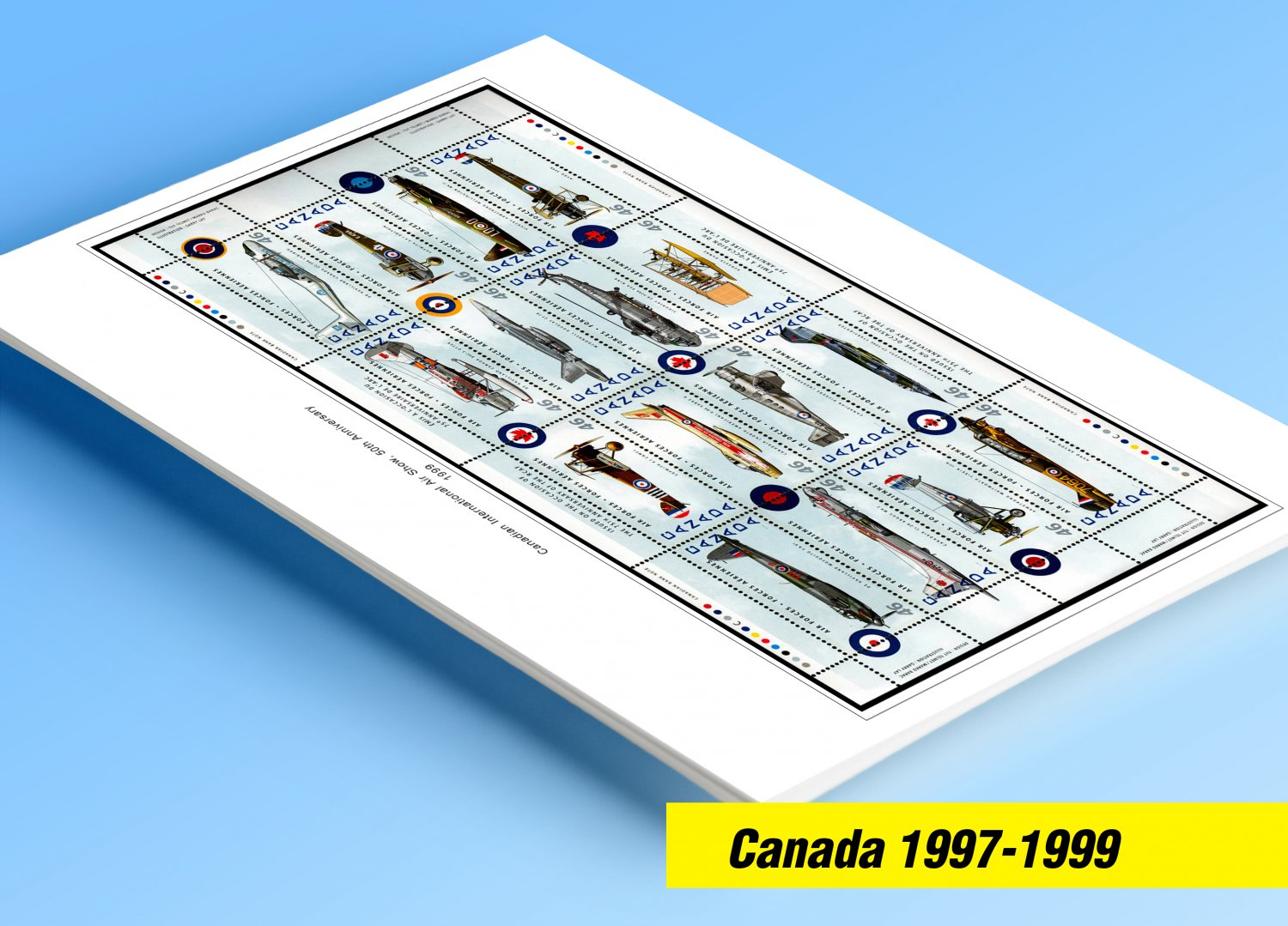 COLOR PRINTED CANADA 1997-1999 STAMP ALBUM PAGES (51 illustrated pages)