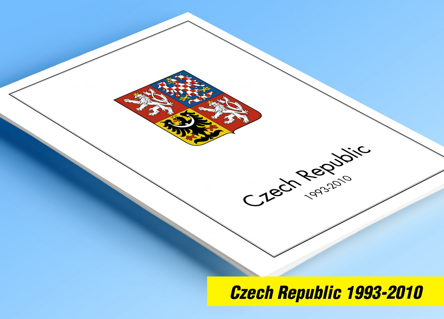 COLOR PRINTED CZECH REPUBLIC 1993-2010 STAMP ALBUM PAGES (90 illustrated pages)