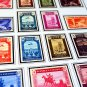 COLOR PRINTED SPAIN AIR POST 1920-1983 STAMP ALBUM PAGES (20 illustrated pages)