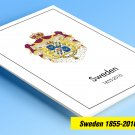 COLOR PRINTED SWEDEN 1855-2010 STAMP ALBUM PAGES (264 illustrated pages)