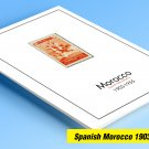 COLOR PRINTED SPANISH MOROCCO 1903-1955 STAMP ALBUM PAGES (45 illustrated pages)