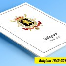COLOR PRINTED BELGIUM 1849-2010 STAMP ALBUM PAGES (539 illustrated pages)