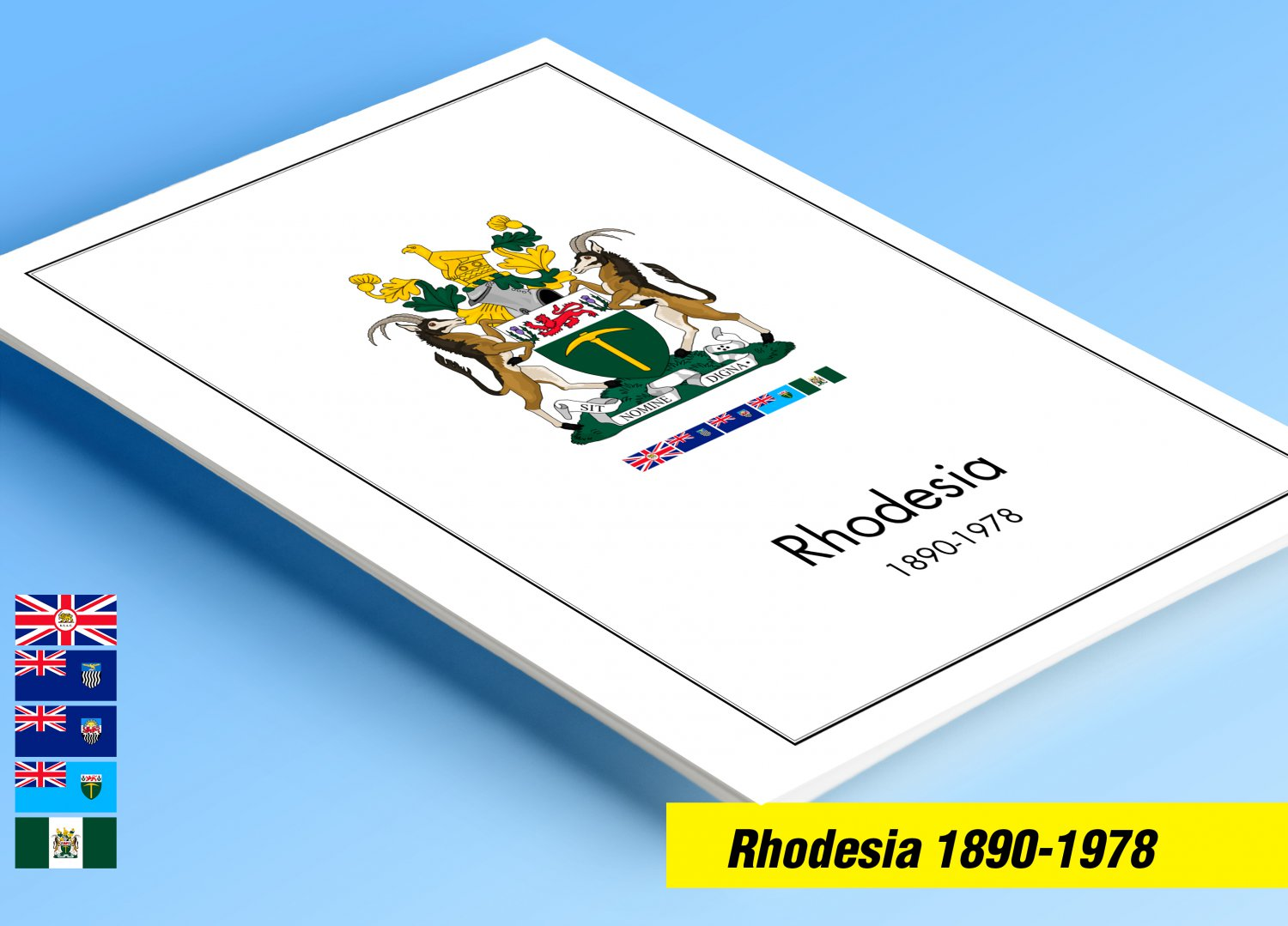 COLOR PRINTED RHODESIA 1890-1978 STAMP ALBUM PAGES (66 illustrated pages) + FREE PDF LIBRARY