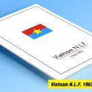 COLOR PRINTED PRINTED NORTH VIETNAM [N.L.F.] 1963-1976 STAMP ALBUM PAGES (10 illustrated pages)