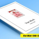 COLOR PRINTED PRINTED VIET MINH 1946-1948 STAMP ALBUM PAGES (8 illustrated pages)