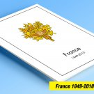 COLOR PRINTED FRANCE 1849-2010 STAMP ALBUM PAGES (619 illustrated pages)