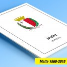 COLOR PRINTED MALTA 1860-2010 STAMP ALBUM PAGES (199 illustrated pages)