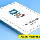 COLOR PRINTED FALKLAND ISLANDS 1878-2010 STAMP ALBUM PAGES (154 illustrated pages)