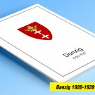 COLOR PRINTED DANZIG 1920-1939 STAMP ALBUM PAGES (45 illustrated pages)