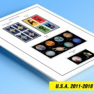 COLOR PRINTED U.S.A. 2011-2018 STAMP ALBUM PAGES (84 illustrated pages)