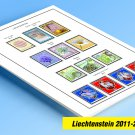 COLOR PRINTED LIECHTENSTEIN 2011-2018 STAMP ALBUM PAGES (54 illustrated pages)