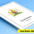 COLOR PRINTED GREAT BRITAIN 1840-2010 STAMP ALBUM PAGES (330 illustrated pages)
