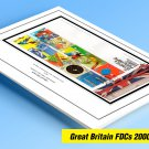 COLOR PRINTED GREAT BRITAIN FDCs 2000-2010 STAMP ALBUM PAGES (284 illustrated pages)
