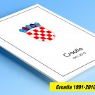 COLOR PRINTED CROATIA 1991-2010  STAMP ALBUM PAGES (111 illustrated pages)