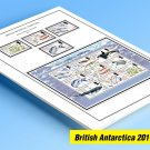 COLOR PRINTED BRITISH ANTARCTIC TERRITORY 2011-2018 STAMP ALBUM PAGES (30 illustrated pages)