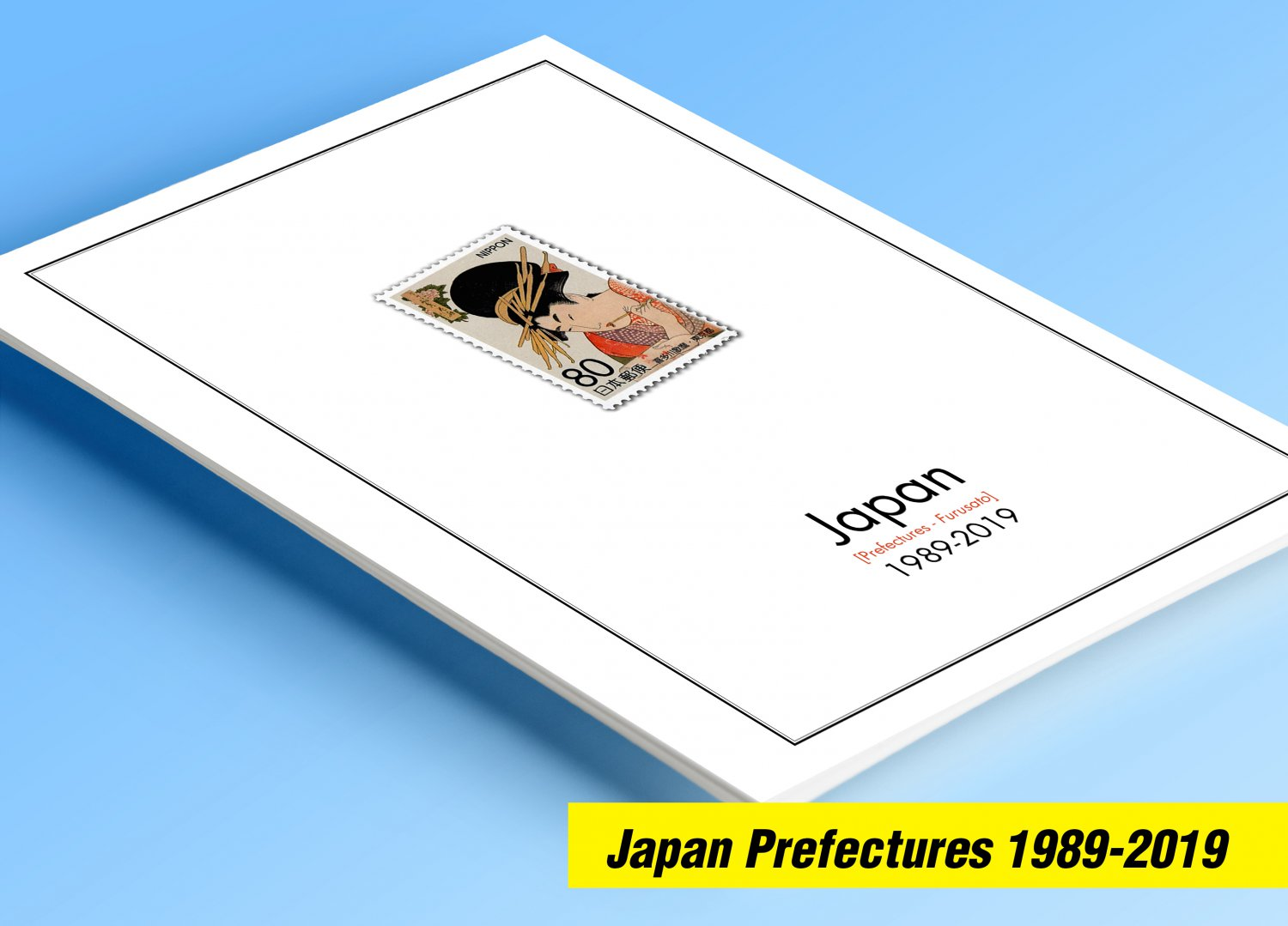 COLOR PRINTED JAPAN PREFECTURES [FURUSATO] 1989-2019 STAMP ALBUM PAGES (202 illustrated pages)