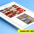 COLOR PRINTED CROATIA 2011-2018 STAMP ALBUM PAGES (53 illustrated pages)