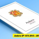 ANDORRA [SPANISH ADMINISTRATION] 1875-2018 COLOR PRINTED STAMP ALBUM PAGES  (60 illustrated pages)