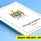 COLOR PRINTED PORTUGAL MADEIRA 1868-2010 + 2011-2019 STAMP ALBUM PAGES (96 illustrated pages)