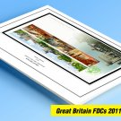COLOR PRINTED GREAT BRITAIN FDCs 2011-2020 STAMP ALBUM PAGES (308 illustrated pages)