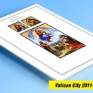 COLOR PRINTED VATICAN CITY 2011-2019 STAMP ALBUM PAGES (42 illustrated pages)