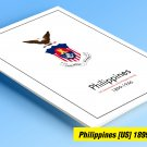 COLOR PRINTED PHILIPPINES [US+JP] 1898-1946 STAMP ALBUM PAGES (60 illustrated pages)